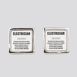 Funny Electrician Definition Square Cufflinks