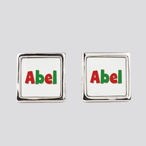 Abel Christmas Red and Green Cufflinks