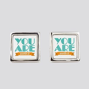You Are Worth It Cufflinks