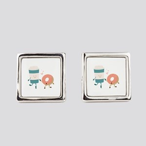 Coffe & Doughut Square Cufflinks