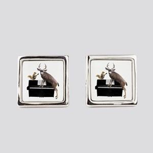Deer Piano Square Cufflinks
