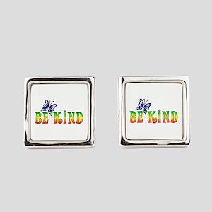 Be Kind Square Cufflinks