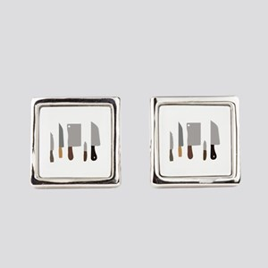 Chef Knives Square Cufflinks