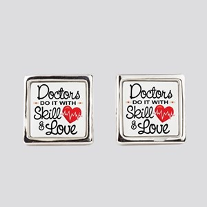 Funny Doctor Square Cufflinks