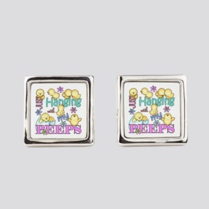 Just Hanging With My Peeps Square Cufflinks