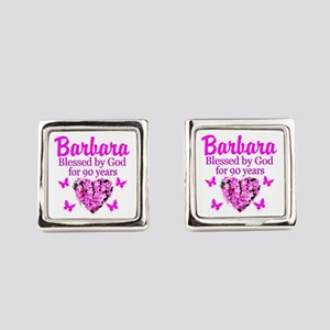 BLESSED 90TH Square Cufflinks