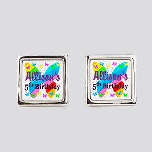 PERSONALIZED 5TH Square Cufflinks