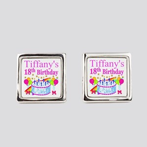 PERSONALIZED 18TH Square Cufflinks