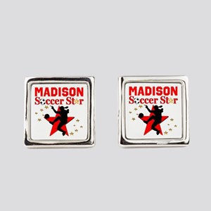 PERSONALIZE SOCCER Square Cufflinks