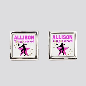 CUSTOM VOLLEYBALL Square Cufflinks