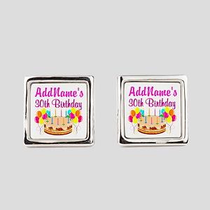 FABULOUS 30TH Cufflinks