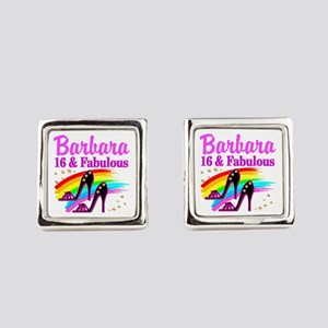 AWESOME 16TH Square Cufflinks