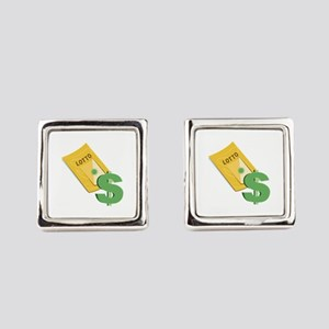 Lotto Ticket Square Cufflinks