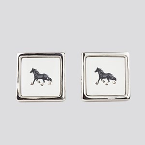DRAFT HORSE Square Cufflinks
