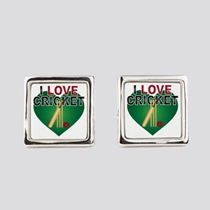 Love Cricket Square Cufflinks