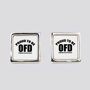 Proud To Be OFD Square Cufflinks