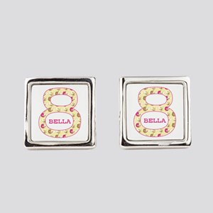 8th Birthday Personalized Square Cufflinks