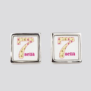 7th Birthday Pesonalized Square Cufflinks