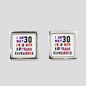 30 Birthday Designs Square Cufflinks