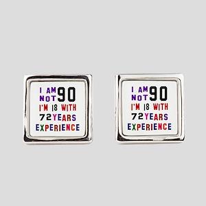 90 Birthday Designs Square Cufflinks