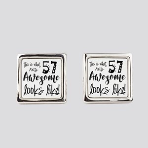 Awesome 57 Years Old Square Cufflinks