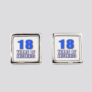 18 Years Of Awesomeness Square Cufflinks