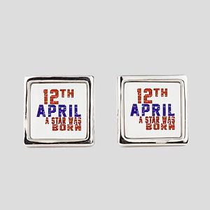 12 April A Star Was Born Square Cufflinks