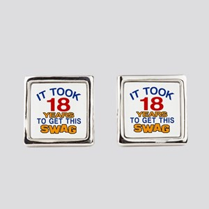 It Took 18 Years To Get This Swag Square Cufflinks