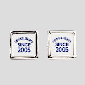 Established Since 2005 Square Cufflinks