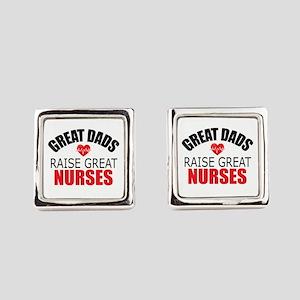 Dad of Nurse Square Cufflinks