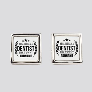 Dentist Gifts Personalized Square Cufflinks
