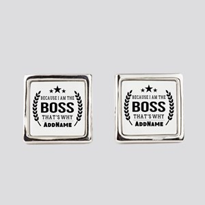 Gifts for Boss Personalized Square Cufflinks