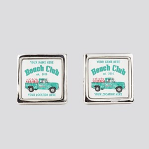 Flamingo Beach Club Square Cufflinks