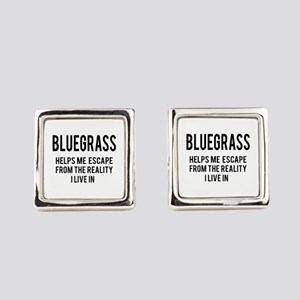 Bluegrass Helps me escape from th Square Cufflinks
