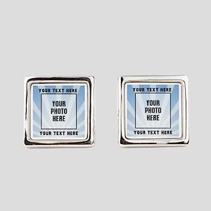 Personalized Sports Square Cufflinks