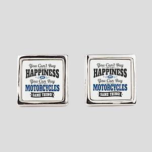 Biker Happiness Square Cufflinks