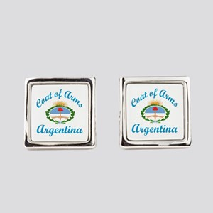 Coat Of Arms Argentina Country De Square Cufflinks