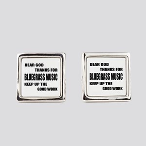 Dear God Thanks For Bluegrass Square Cufflinks