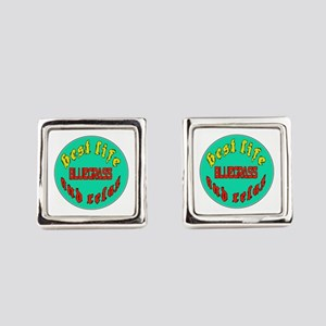 Best life Bluegrass and relax Square Cufflinks