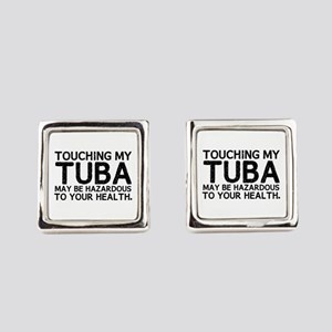 Tuba Hazard Square Cufflinks