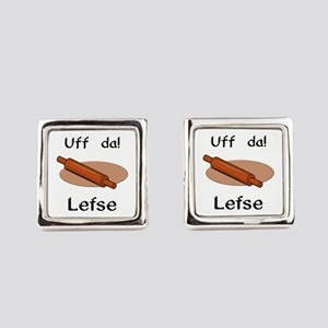 Uff Da! Lefse Square Cufflinks
