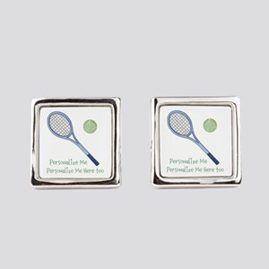 Personalized Tennis Cufflinks