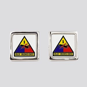 1st Armored Division Square Cufflinks