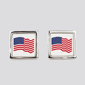 American Flag Waving Cufflinks