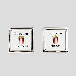 Popcorn Princess Square Cufflinks