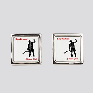 Merry Christmas - Shitter's Full Square Cufflinks