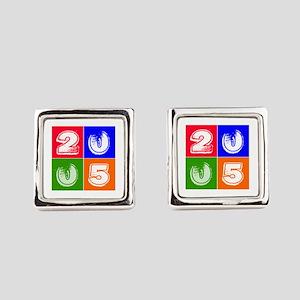 2005 Birthday Designs Square Cufflinks