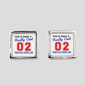 Really Cool 02 Birthday Designs Square Cufflinks