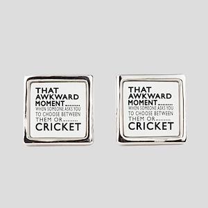 Cricket Awkward Moment Designs Square Cufflinks