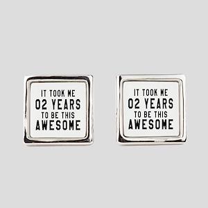 02 Years Birthday Designs Square Cufflinks